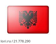 Купить «Албанский флаг», иллюстрация № 21778290 (c) Александр Макаров / Фотобанк Лори