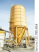 Купить «Concrete mixing silo, site construction facilities.», фото № 21785854, снято 16 июля 2019 г. (c) PantherMedia / Фотобанк Лори