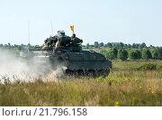 Купить «Gardelegen, Germany, Panzer Grenadier Company at a practice on the military training Altmark», фото № 21796158, снято 3 июля 2014 г. (c) Caro Photoagency / Фотобанк Лори