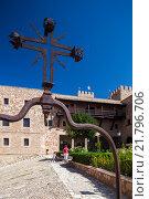 Купить «Siguenza, Spain Detail of the Castillo de Sigueenza», фото № 21796706, снято 12 августа 2010 г. (c) Caro Photoagency / Фотобанк Лори