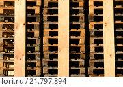 Купить «wood transport stack stock palette», фото № 21797894, снято 15 октября 2019 г. (c) PantherMedia / Фотобанк Лори