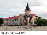 Купить «Здание почтамта в городе Нарьян-Маре», фото № 21802594, снято 30 июля 2013 г. (c) Сергей Гусев / Фотобанк Лори