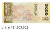 Банкнота 5000 шри-ланкийских рупий. Стоковое фото, фотограф Некрасов Андрей / Фотобанк Лори