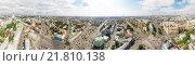 Перекресток Таганский, вид Москвы с высоты (2014 год). Стоковое фото, фотограф Юрий Губин / Фотобанк Лори