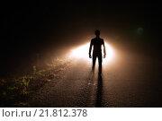 Купить «Тень человека», фото № 21812378, снято 12 октября 2014 г. (c) Дарья Арифуллина / Фотобанк Лори