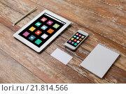 Купить «close up of notebook, tablet pc and smartphone», фото № 21814566, снято 10 октября 2014 г. (c) Syda Productions / Фотобанк Лори