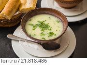 Купить «Чихиртма - грузинский суп из курицы», фото № 21818486, снято 4 января 2016 г. (c) Gagara / Фотобанк Лори