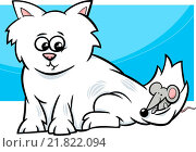 kitten with mouse cartoon. Стоковое фото, фотограф Zoonar/igor Zakowski / easy Fotostock / Фотобанк Лори