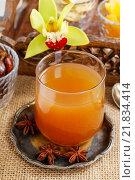 Купить «Sweet drink made of tropical fruits. Party dessert», фото № 21834414, снято 19 февраля 2018 г. (c) BE&W Photo / Фотобанк Лори