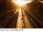 Вокзал. Стоковое фото, фотограф Алена Перфилова / Фотобанк Лори