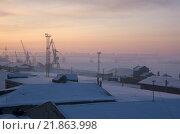 Новосибирск, городской пейзаж, вид на реку Обь. Утро (2015 год). Стоковое фото, фотограф Антон Ильяшенко / Фотобанк Лори