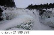 Купить «Водопад Tännforsen в Швеции зимой», видеоролик № 21889898, снято 20 августа 2019 г. (c) Павел Котельников / Фотобанк Лори