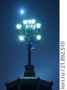 Уличный фонарь и Луна. Стоковое фото, фотограф Иван Прокопович / Фотобанк Лори