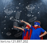 Купить «Composite image of masked kids pretending to be superheroes», фото № 21897202, снято 15 декабря 2018 г. (c) Wavebreak Media / Фотобанк Лори