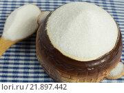 Белый сахар в чашке. Стоковое фото, фотограф Ivan Dubenko / Фотобанк Лори