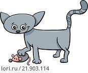kitten with toy cartoon. Стоковая иллюстрация, иллюстратор Zoonar/Igor Zakowski / easy Fotostock / Фотобанк Лори