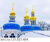 Псково-Печерский монастырь зимой, фото № 21921494, снято 23 февраля 2016 г. (c) Алексей Ларионов / Фотобанк Лори