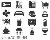 Купить «Hotel room icons set», иллюстрация № 21954498 (c) PantherMedia / Фотобанк Лори