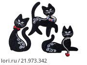 Кошки. Тканевая аппликация с кошками. Стоковое фото, фотограф Дмитрий Пронченко / Фотобанк Лори