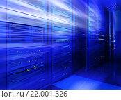 Синяя серверная комната. Стоковое фото, фотограф Тимофеев Владимир / Фотобанк Лори