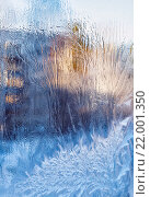 Морозные узоры на стекле. Стоковое фото, фотограф Тимофеев Владимир / Фотобанк Лори