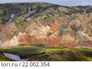 Купить «Цветные риолитовые горы, Исландия», фото № 22002354, снято 25 июля 2011 г. (c) Марина Суптель / Фотобанк Лори