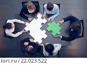 Купить «Business people assembling puzzle», фото № 22023522, снято 8 ноября 2018 г. (c) easy Fotostock / Фотобанк Лори