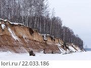 Берег Горьковского моря зимой. Стоковое фото, фотограф Евгений Захаров / Фотобанк Лори