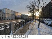Холодный закат (2012 год). Стоковое фото, фотограф Илья Потапов / Фотобанк Лори