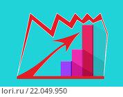График роста и стрелка. Вектор. Стоковая иллюстрация, иллюстратор Ира Кураленко / Фотобанк Лори