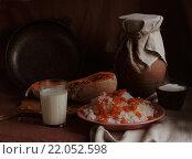 Купить «Тыквенная каша с молоком», фото № 22052598, снято 4 марта 2016 г. (c) Марина Володько / Фотобанк Лори