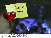 """Купить «handwritten """"Thank You""""», фото № 22066906, снято 23 июля 2019 г. (c) PantherMedia / Фотобанк Лори"""