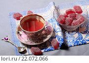 Чай и мармелад. Стоковое фото, фотограф Яна Королёва / Фотобанк Лори
