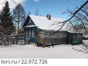 Старый деревенский дом. Стоковое фото, фотограф Моргулян Михаил / Фотобанк Лори