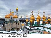 Соборы Московского Кремля. Стоковое фото, фотограф Сергей Алимов / Фотобанк Лори