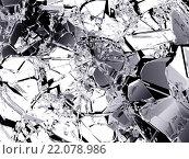 Купить «Осколки разбитого стекла», фото № 22078986, снято 4 июля 2020 г. (c) Арсений Герасименко / Фотобанк Лори