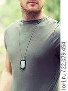 Купить «close up of young soldier in military uniform», фото № 22079454, снято 14 августа 2014 г. (c) Syda Productions / Фотобанк Лори