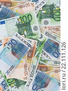 Купить «Европейские деньги - банкноты евро», фото № 22111126, снято 10 марта 2016 г. (c) Анастасия Кононенко / Фотобанк Лори