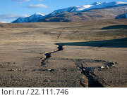 Трещины от землетрясения в горах. Стоковое фото, фотограф hunta / Фотобанк Лори