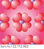 Фон на день Святого Валентина. Стоковая иллюстрация, иллюстратор Евгения Миллер / Фотобанк Лори