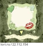 Квадратная рамка с цветами, рисунок. Стоковая иллюстрация, иллюстратор Евгения Миллер / Фотобанк Лори