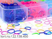 Цветные яркие резиночки. Стоковое фото, фотограф Виталий Верхозин / Фотобанк Лори