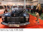 Купить «Cadillac Series 62 Convertible Coupe на выставочной экспозиции XXV Олдтаймер-Галереи И. Сорокина в Сокольниках, Москва», эксклюзивное фото № 22139326, снято 7 марта 2016 г. (c) Алексей Гусев / Фотобанк Лори