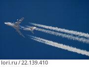 Самолет Боинг 747-300 авиакомпании Air Bridge Cargo (бортовой номе VP-BIC) на крейсерской высоте полета (2009 год). Редакционное фото, фотограф Sergey Kustov / Фотобанк Лори