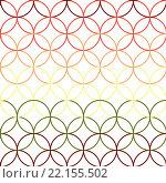 Купить «Seamless Abstract Intersecting and Repeating Modern Colorful Circles», иллюстрация № 22155502 (c) PantherMedia / Фотобанк Лори
