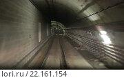 Купить «Movement along the rails in the subway tunnel», видеоролик № 22161154, снято 5 февраля 2016 г. (c) Яков Филимонов / Фотобанк Лори