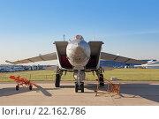 Купить «Международный авиационно-космический салон МАКС-2015. МиГ-25 - советский сверхзвуковой высотный истребитель-перехватчик 3-го поколения», фото № 22162786, снято 25 августа 2015 г. (c) Игорь Долгов / Фотобанк Лори