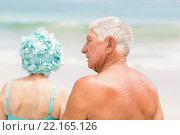 Купить «Senior couple in beachwear», фото № 22165126, снято 12 ноября 2015 г. (c) Wavebreak Media / Фотобанк Лори