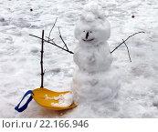 Снежная баба. Стоковое фото, фотограф Chutniza / Фотобанк Лори