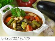 Купить «Запечённый постный суп», эксклюзивное фото № 22176170, снято 24 апреля 2013 г. (c) Александр Курлович / Фотобанк Лори